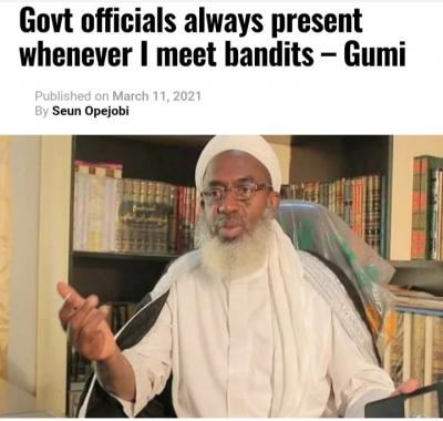 Sheikh Gumi: Government Officials Always Present Whenever I Meet Bandits