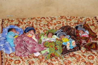 Farmer's Wife Delivers Quintuplets In Ogbomoso After Five Children (Photos)