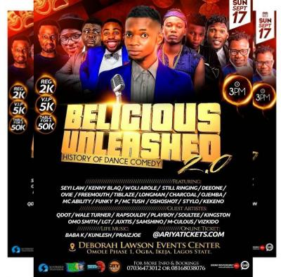 EVENT: The Biggest Comedy On The Mainland: Belicious Unleashed 2.0 (SEPT 17TH)