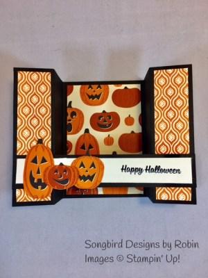 Halloween Bridge Fold Card