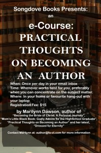 "Songdove Books: e-Course on ""Practical Thoughts on Becoming an Author"""