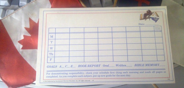 Songdove Books - ACE Goal Chart
