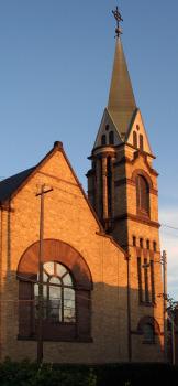 Songdove Books - red brick church