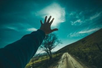 Reach toward sky
