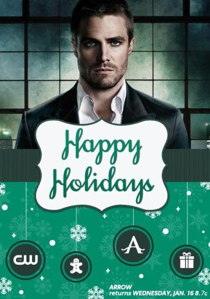 arrow happy holidays