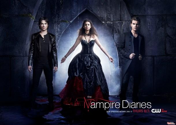 Damon Elena & Stefan - TVD Affiche promoS4