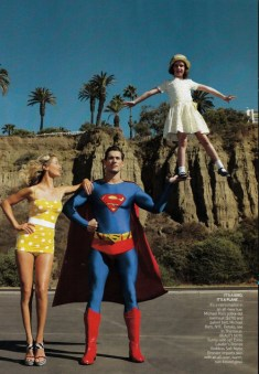 David Gandy en Superman pour American Vogue 2