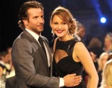 Jennifer Lawrence with Bradley Cooper - Critics Choice Movie Awards2013