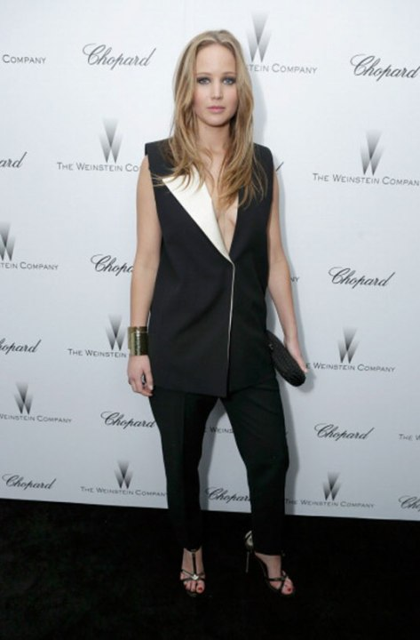 JENNIFER LAWRENCE at The Weinstein Company Pre-Oscar Party