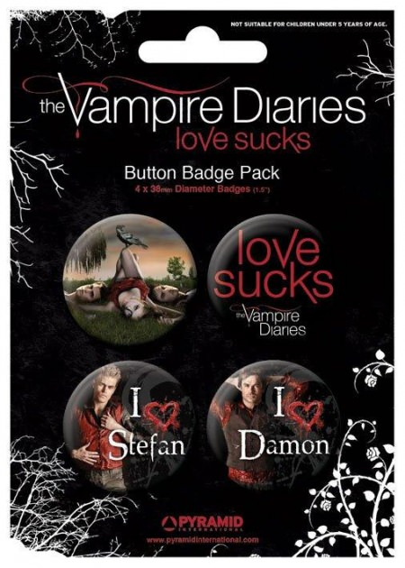 lot concours st valentin -badge-bouton-vampire-diaries-love-sucks