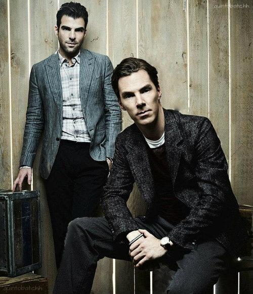 Zachary Quinto & Benedict cumberbatch