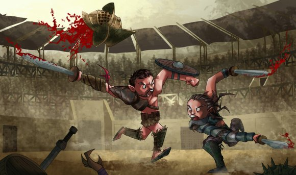Spartacus VS Gannicus By_maxhwang