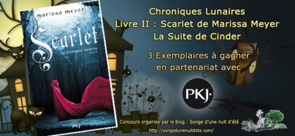 3 Exemplaires de Scarlet (La Suite de Cinder) à Gagner !!