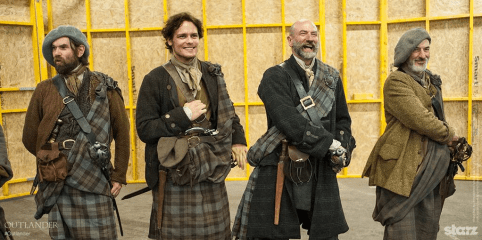 Outlander on the set