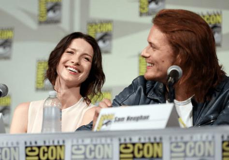 Outlander Comic-Con - Caitriona Balfe et Sam Heughan