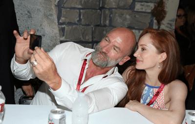 Outlander Comic-Con - Graham McTavish et Lotte Verbeek
