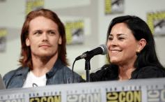 Outlander Comic-Con - Sam Heughan et Diana Gabaldon