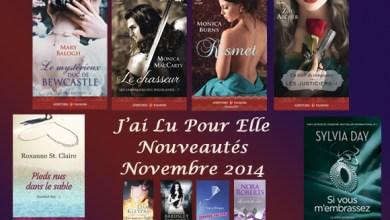 Photo of Nouveautés de Novembre 2014 – J'ai Lu Pour Elle