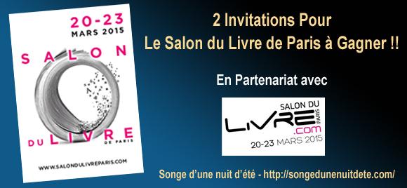 Concours 2 invitations pour le salon du livre de paris gagner - Invitation salon du livre ...
