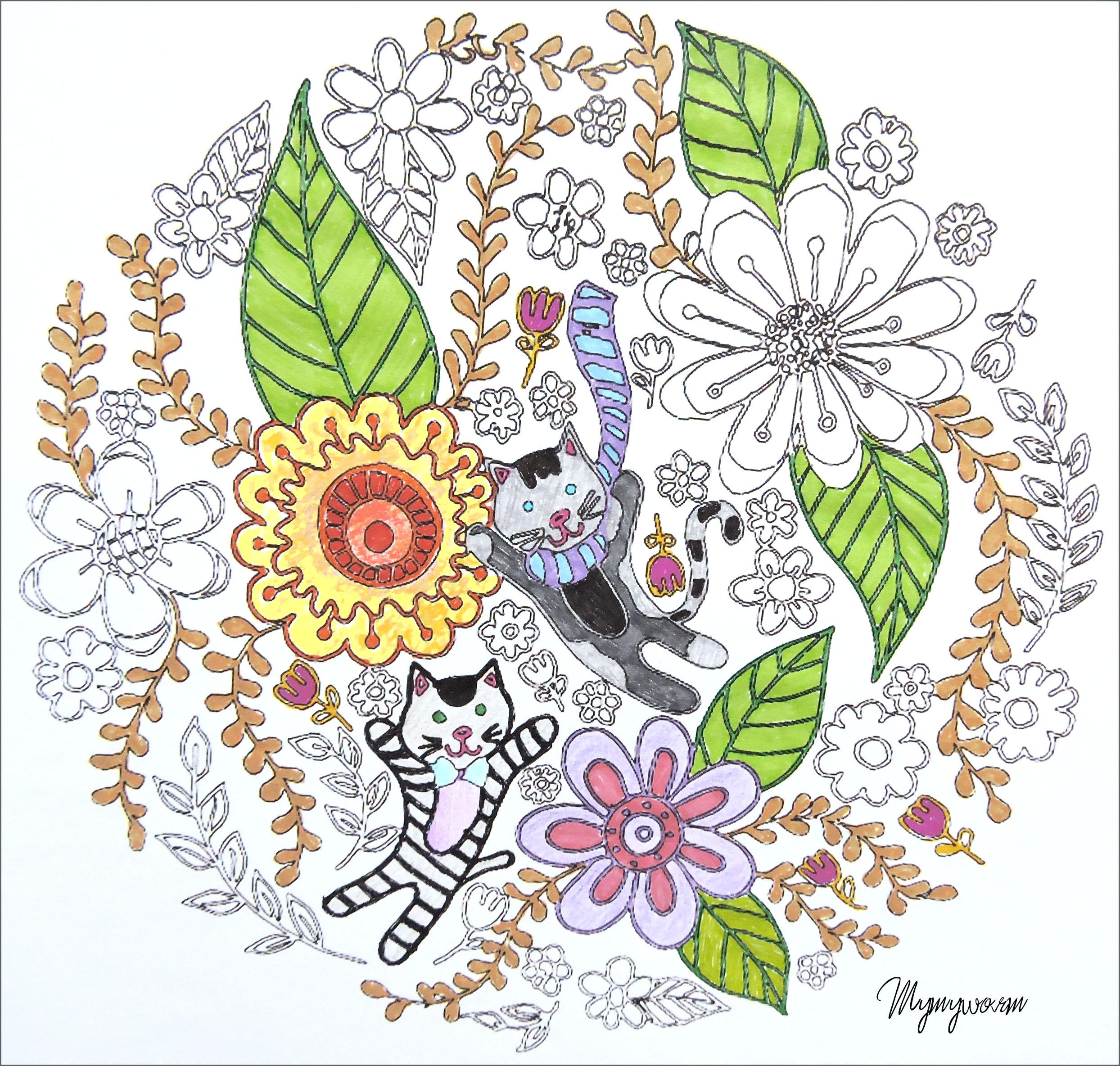 Petit livre  colorier Chats exemple