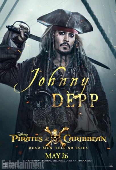 pirates des caraibes 5 - Johnny Depp - Capitaine Jack Sparrow