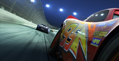 "REAR VIEW — The legendary #95 may be leading the pack, but the high-tech Next Gen racers are closing in fast. Directed by Brian Fee and produced by Kevin Reher, ""Cars 3"" cruises into theaters on June 16, 2017. ©2016 Disney•Pixar. All Rights Reserved."