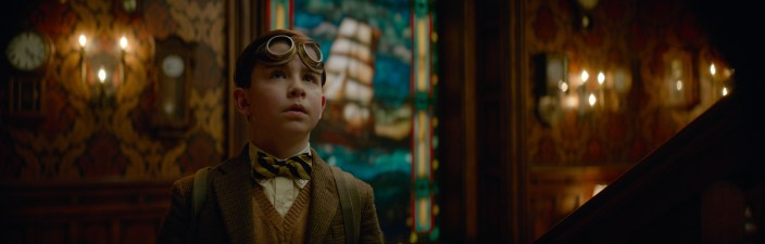OWEN VACCARO stars in The House with a Clock in Its Walls, from Amblin Entertainment. The magical adventure tells the spine-tingling tale of 10-year-old Lewis (Vaccaro) who goes to live with his uncle (Jack Black) in a creaky old house with a mysterious tick-tocking heart. But his new town's sleepy façade jolts to life with a secret world of warlocks and witches when Lewis accidentally awakens the dead.