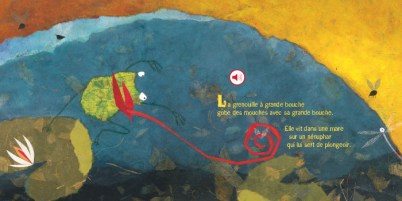 La grenouille à grande bouche de Élodie Nouhen et Francine Vidale-3