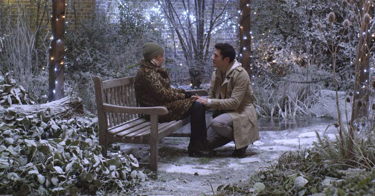 (from left) Kate (Emilia Clarke) and Tom (Henry Golding) in Last Christmas, directed by Paul Feig.
