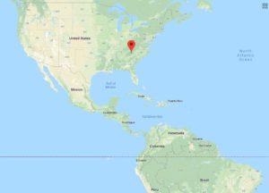 Hemisphere Map Location of 15 Acres in Western North Carolina