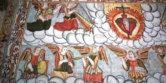 CURAHUARA DE CARANGAS / Chapelle Sixtine - Des anges aux ailes de peroquets
