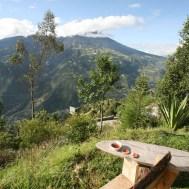 BANOS / Bivouac depuis le mirador Ojo del volcan avec vue sur le Tungurahua