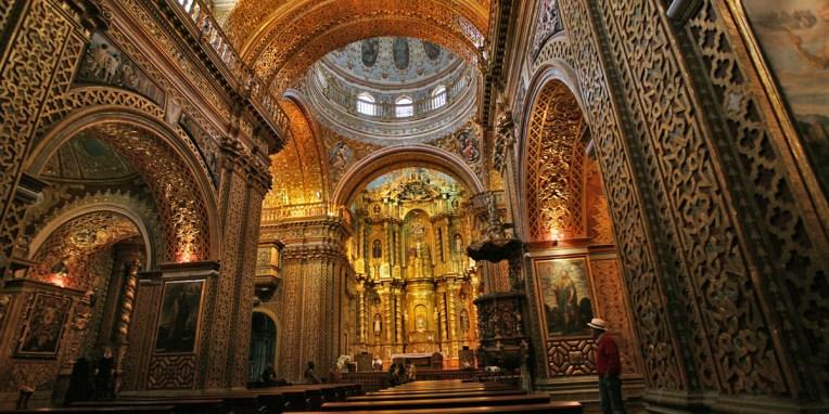 QUITO / Eglise Compania de Jesus