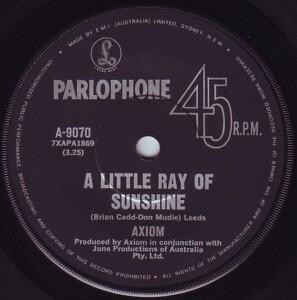 a little ray of sunshine axiom