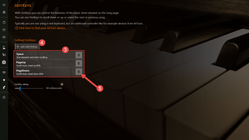 SongRepertoire HotKeys Configuration