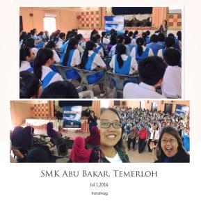 1 July 2016: Songs & Stories Interact took place in SMAK Abu Bakar, Temerloh, Pahang