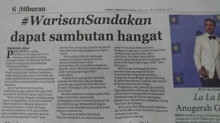 10 January 2017: #WarisanSandakan featured on Daily Express Sabah (BM Version)