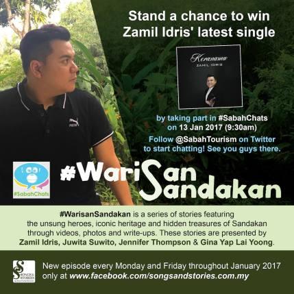 13 January 2017: #WarisanSandakan featured on #SabahChats