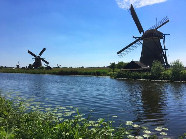 Kinderdijk e os moinhos de vento
