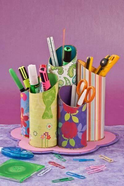 porta-canetas-de-rolo-de-papel-higiênico