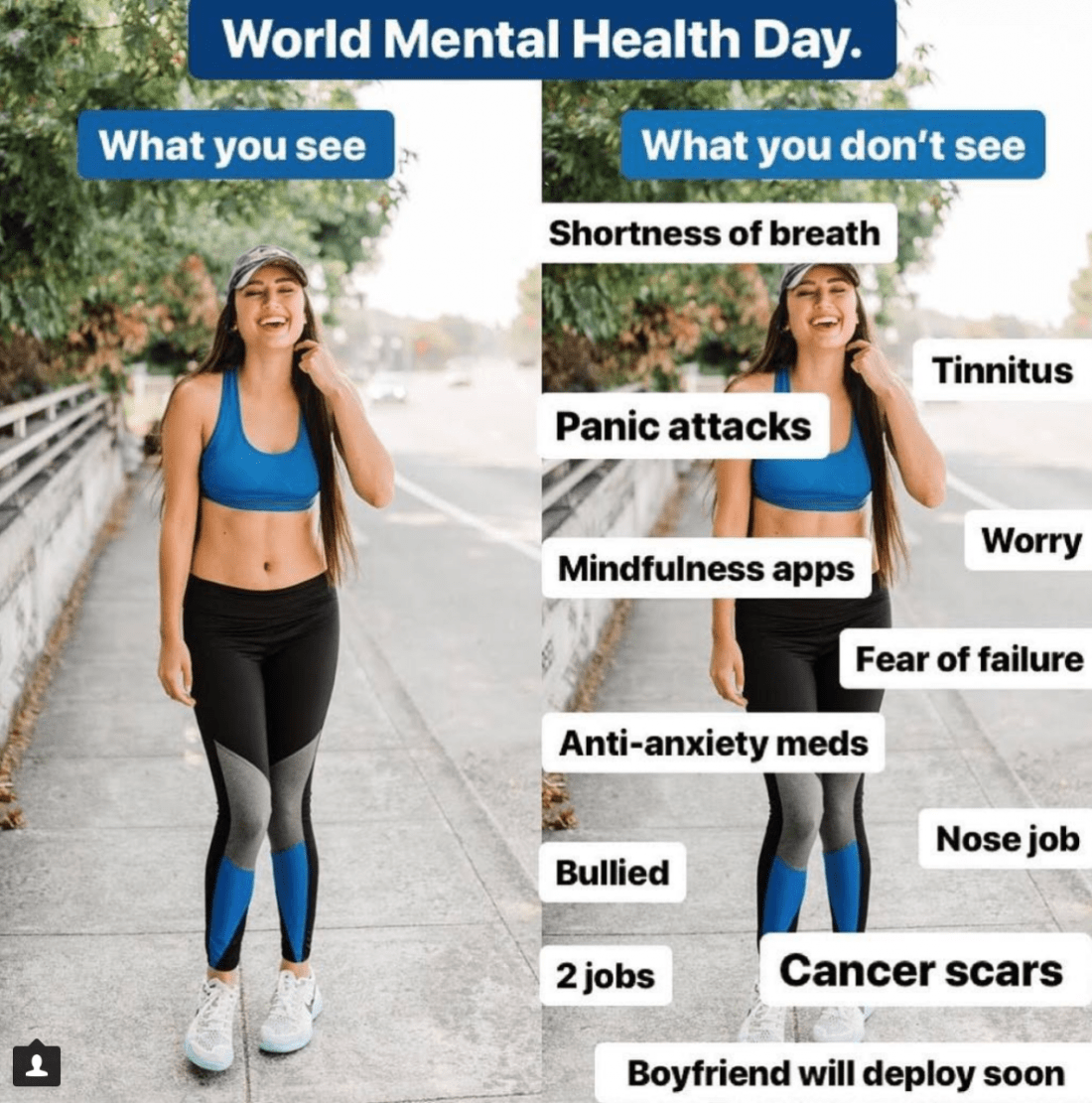Instagram vs. Reality, bloggers with mental health disorders, anxiety disorders