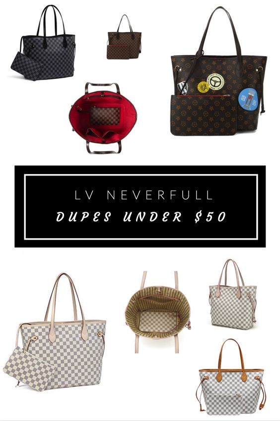LV Neverfull Designer Bag Dupes