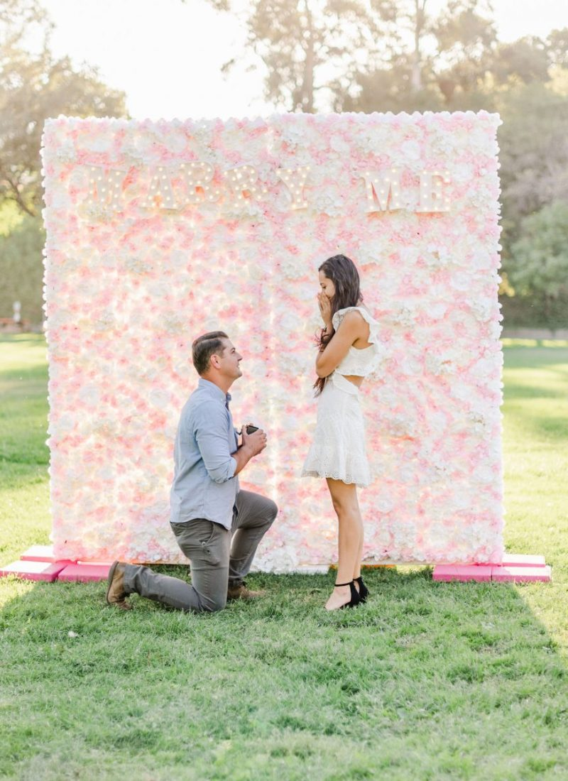 My Flower Wall Proposal and Engagement