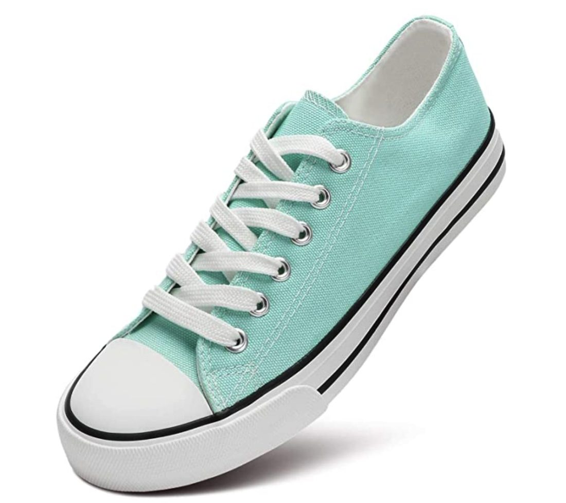 Mint Converse Inspired Sneakers