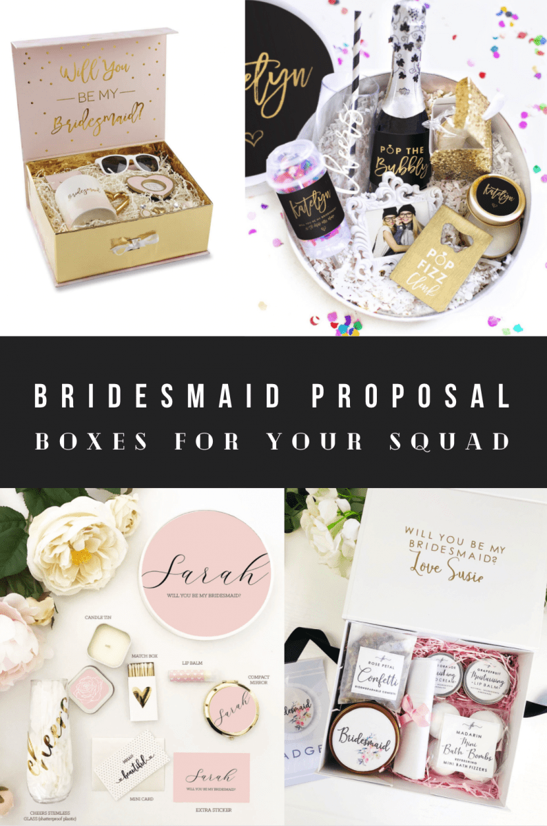 Personalized Cute Premade Bridesmaid Proposal Boxes