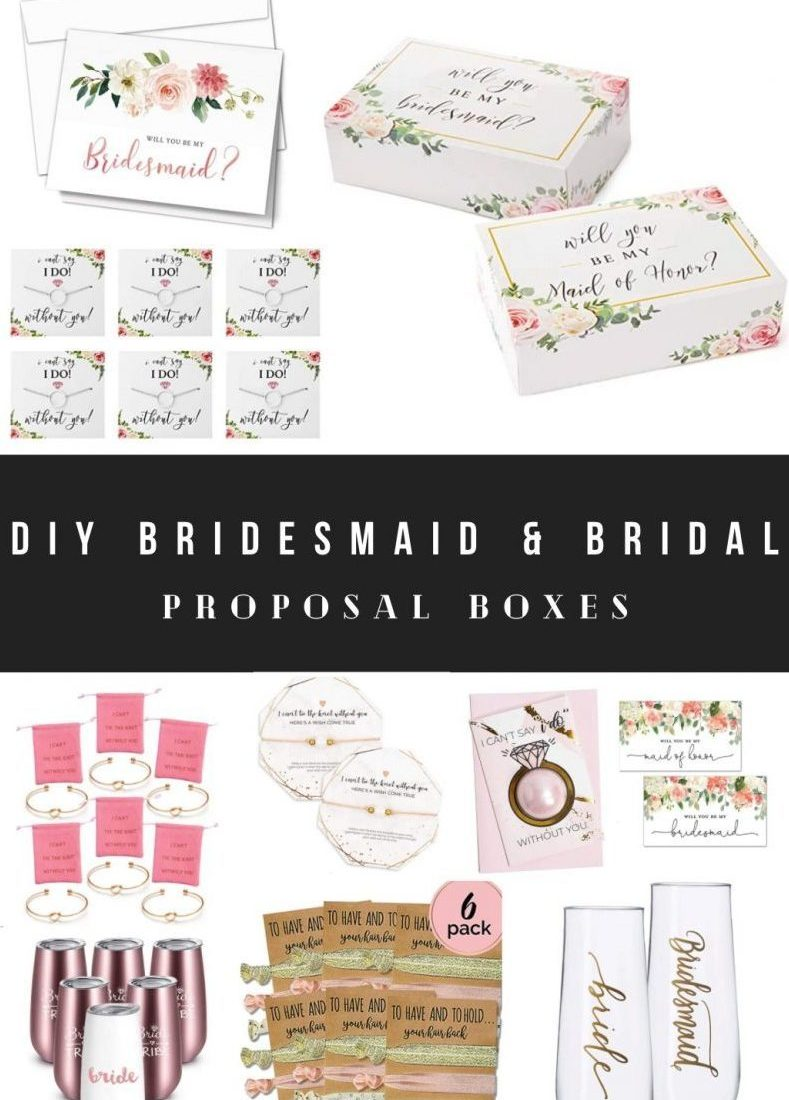 How to Make DIY Bridesmaid Proposal Boxes and Bridal Boxes