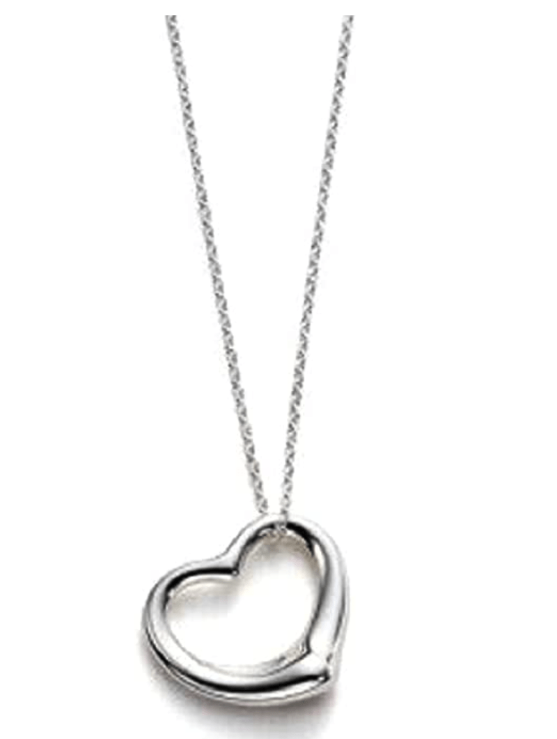 Tiffany and Co Open Heart Pendant Inspired Necklace