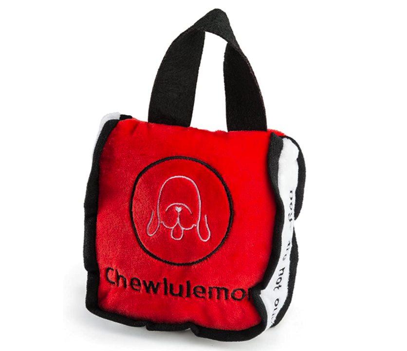 Designer Inspired Dog Toy, Lululemon, Chewlulemon