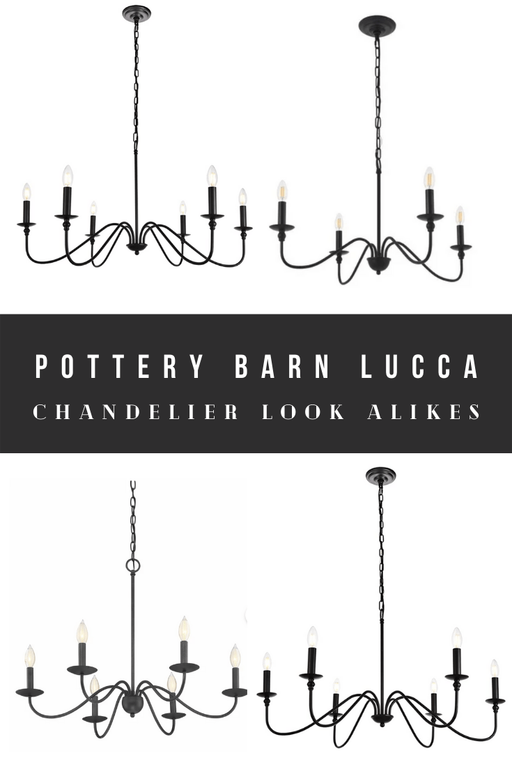 Cheap Pottery Barn Lucca Chandelier Dupes, Look Alikes, and Knock-Offs