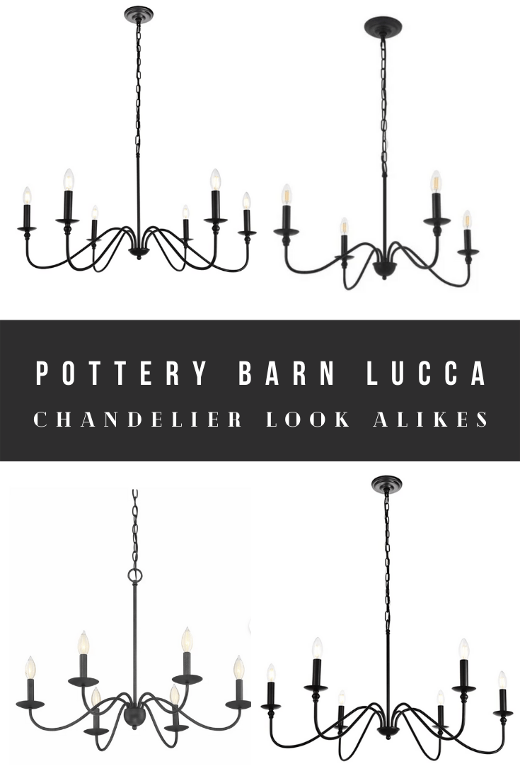 Pottery Barn Lucca Chandelier Dupes, Look Alikes, and Knock-Offs
